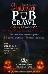 Halloween Pub Crawl - The W Karaoke
